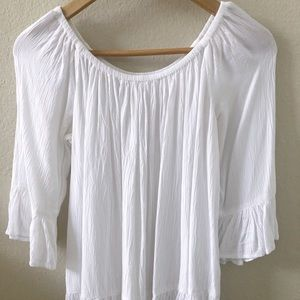 beachlunchlounge Tops - Beach Lunch Lounge White Off shoulder top